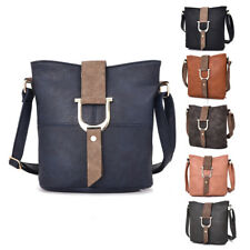 New Womens Audrey Bucket Buckle Leather Crossbody Shoulder Bag Messenger Handbag