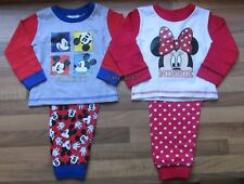 DISNEY MICKEY MINNIE MOUSE PYJAMAS BABY TODDLER GIRLS BOYS CHARACTER NIGHTWEAR