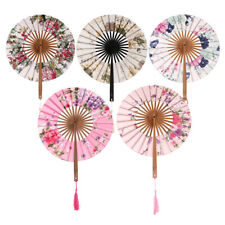 Chinese Style Folding Hand Held Flower Pattern Fan Dance Wedding Party Gifts