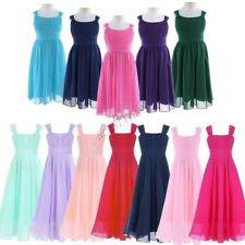 Kids Formal Flower Girl Chiffon Dress Wedding Bridesmaid Party Pageant Gown