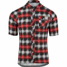 Lumberjack Short Sleeve Cycling Jerseys Shirt Top Black Red White Grey Bike