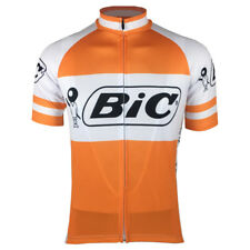 Retro Bic Pens Team Mens Cycling Jersey Shirt Top Orange