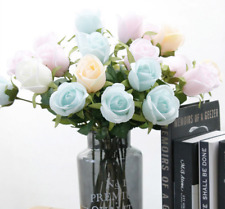 40cm Candy color artificial flowers rose Silk Floral Fake Valentines Wedding