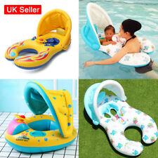 Inflatable Mother Baby Swim Ring Infant Kids Swimming Float Seat Ring Holder N