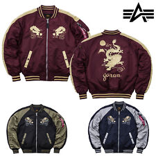 ALPHA INDUSTRIES GIACCA UOMO GIAPPONE DRAGON Bomber invernale limitato