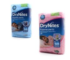 Huggies DryNites Boys Girls Pyjama Pants 4-7 Years  Pack of 10,20,30 Free P & P