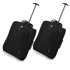 TWIN SET 53.3cm Carry On APROBADO TROLLEY CABINA 2 CON RUEDAS EQUIPAJE DE MANO