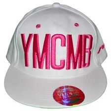 YMCMB  CASQUETTE SNAPBACK  TAILLE RÉGLABLE  BLANC ROSE NEUF GRADE A