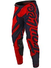 Pantaloni motocross Troy Lee Designs 2018 SE Air Shadow Rosso-Blu Scuro