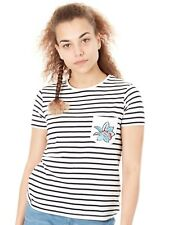 T-Shirt con taschino Donna Roxy Bahamas Cottage A Anthracite Basic Bico Stripes