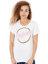 T-Shirt Donna Volcom SP18 Easy Babe Rad 2 Bianco