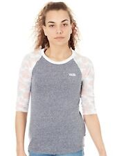 Maglietta Raglan Donna Vans Poppy Dream Grigio Heather-Poppy