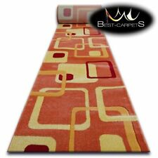 CHEMIN DE TABLE Tapis, FOCUS F240 orange, moderne, Escaliers largeur 70 cm - 120