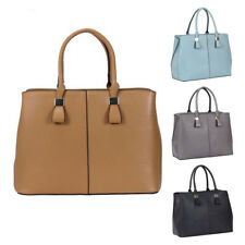 Womens Plain Design PU Leather Tote Crossbody Shoulder Bag Hobo Shopper  Handbag