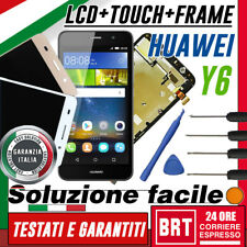 LCD +TOUCH SCREEN +FRAME PER HUAWEI ASCEND Y6 SCL-L01 DISPLAY VETRO HUAWEI+KIT!!