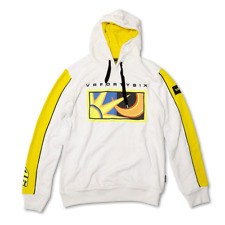 VALENTINO ROSSI #46 MEN'S FLEECE HOODIE - WHITE - OFFICIAL VR46 PRODUCT
