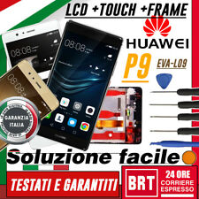 LCD+TOUCH SCREEN+FRAME NUOVO PER HUAWEI P9 EVA-L09 _DISPLAY VETRO + KIT SMONT!!