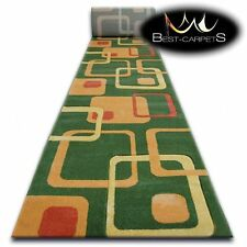 CHEMIN DE TABLE Tapis, FOCUS F240 vert, moderne, Escaliers largeur 70 cm - 120