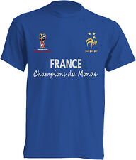 T-shirt hommage France Champions du Monde football Russie 2018 maillot homme