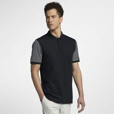 Nike Golf Men's Dry Pique Classic Polo Shirt - Black/White/Black