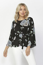 Sass Floral Oasis Tie Front Blouse in Print