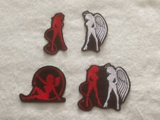 Devil - Angel Girls -  Biker Patch / Badge - Embroidered - Sew On - Various