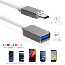 15CM 1M USB-C 3.1 Type C to USB 3.0 A Female OTG Cable Adapter Converter Grey