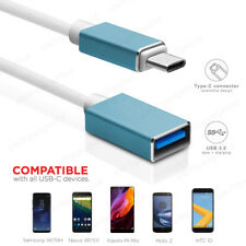15CM 1M USB-C 3.1 Type C to USB 3.0 A Female OTG Cable Adapter Converter Blue