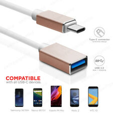 15CM 1M USB-C 3.1 Type C to USB 3.0 A Female OTG Cable Adapter Converter Gold