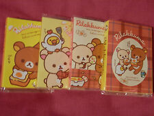 Rilakkuma Sticky Notes Set - Cooking / Eggs - 4 Pack Designs - Brand New!