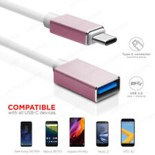 15CM 1M USB-C 3.1 Type C to USB 3.0 Female OTG Cable Adapter Converter Rose Gold