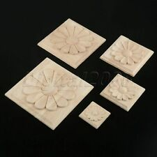 European Style Wood Carved Decal Applique Decor Window Cabinet Mirror Onlay DIY