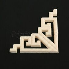 Floral Craft Wood Carved Decal Decor Frame Onlay Corner Applique Wall Furniture