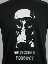 The Clash Inspired T-Shirt Armagideon Time No Justice Tonight Gasmask Punk