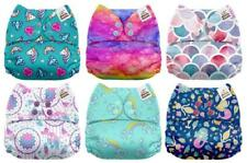 All In One Cloth Diapers One Size Baby Washable Reusable Pocket Microfiber 6Pack