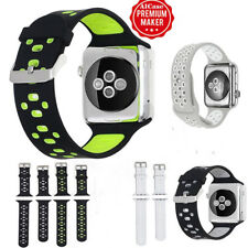 38/42mm Silicone Sport Wrist Band Strap For Apple Watch iWatch SERIES 3/FO