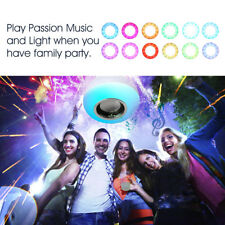 Wireless Bluetooth Speaker Light Bulb 12W Dimmable Rgb Led with Remote Control!