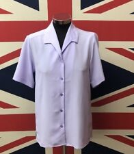 New Ladies Lilac Short Sleeve Blouse Style Shirt Formal Wear Business Wear