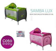 Cotobaby SAMBA LUX TRAVEL COT BED PLAYPEN entryway MUSIC BOX MOSQUITO NET