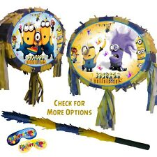 Oval Minions Despicable Me Pinata Kids Smash Minion Party Fun Stick boys girls