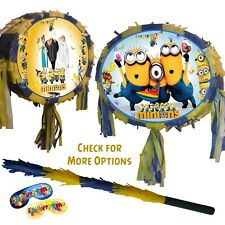 Oval Minions Despicable Me Pinata Kids Smash Minion Party Fun Stick 3 movie uk