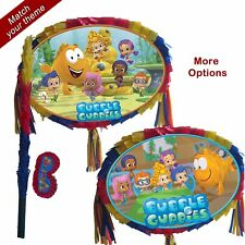 Bubble Guppies Pinata set Kids Smash Party Game Fun Stick school of fish water