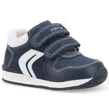 GEOX Rishon Suede Navy/Royal Blue Infant Trainers