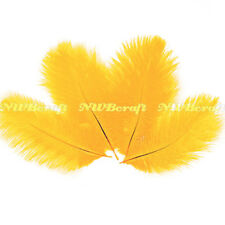 Gold  Ostrich Feather  Fluffy Wedding Costume Party Centerpiece Craft Deco