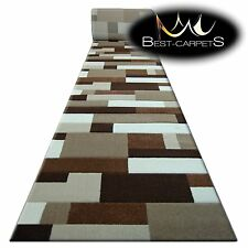 Chemin de Table Tapis Pilly 8403 Doré / Cacao Moderne,Escaliers Largeur 70cm -