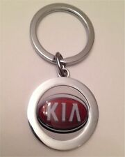 KIA LOGO LEATHER KEY FOB / METAL KEYRING / BOTTLE OPENER