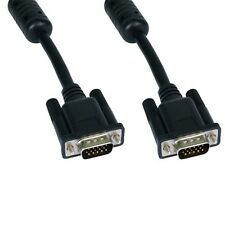 VGA / SVGA MONITOR CABLE MALE TO MALE LEAD TRIPLE SHIELDED FULLY WIRED 15PIN