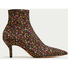 ZARA Woman BNWT Multicolour Floral Printed High Heel Ankle Boots Ref. 5101/201
