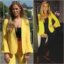 ZARA Yellow Bell Sleeve V-Neck Jacket Long Flared Sleeves & Trousers 2585/778