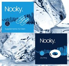 Nooky Blue Sex Tablets For Men and Nooky Joy Ring (White Sleeve)